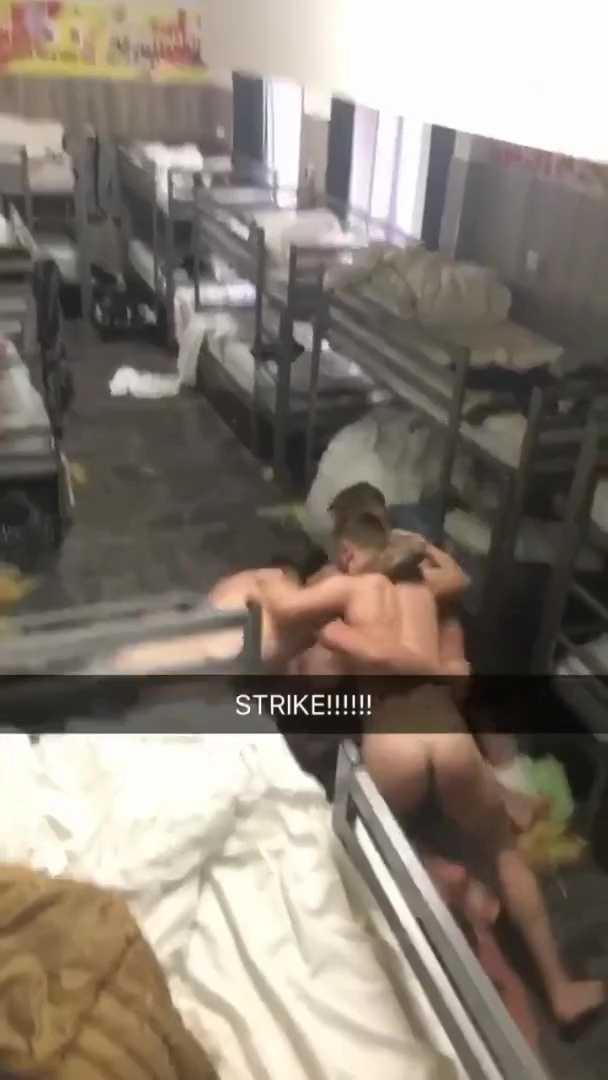 Soldiers naked fun in barracks-00005