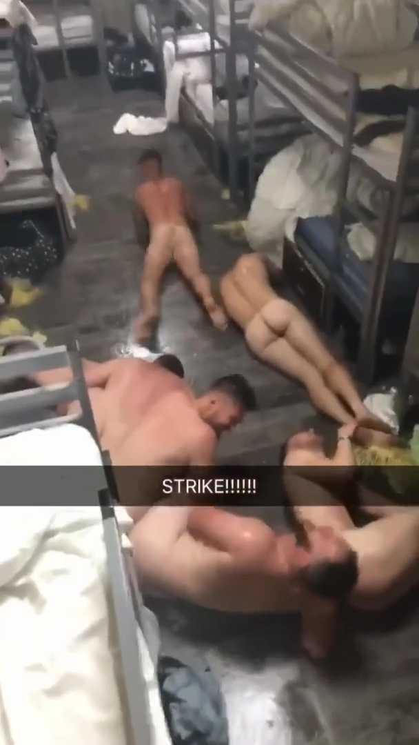 Soldiers naked fun in barracks-00008