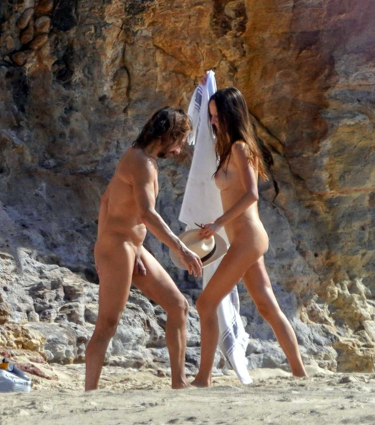 bob sinlcar naked on the beach