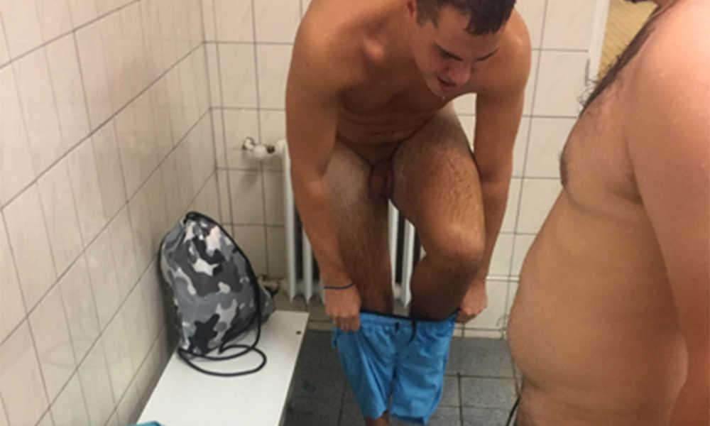 guys captured naked in the locker room