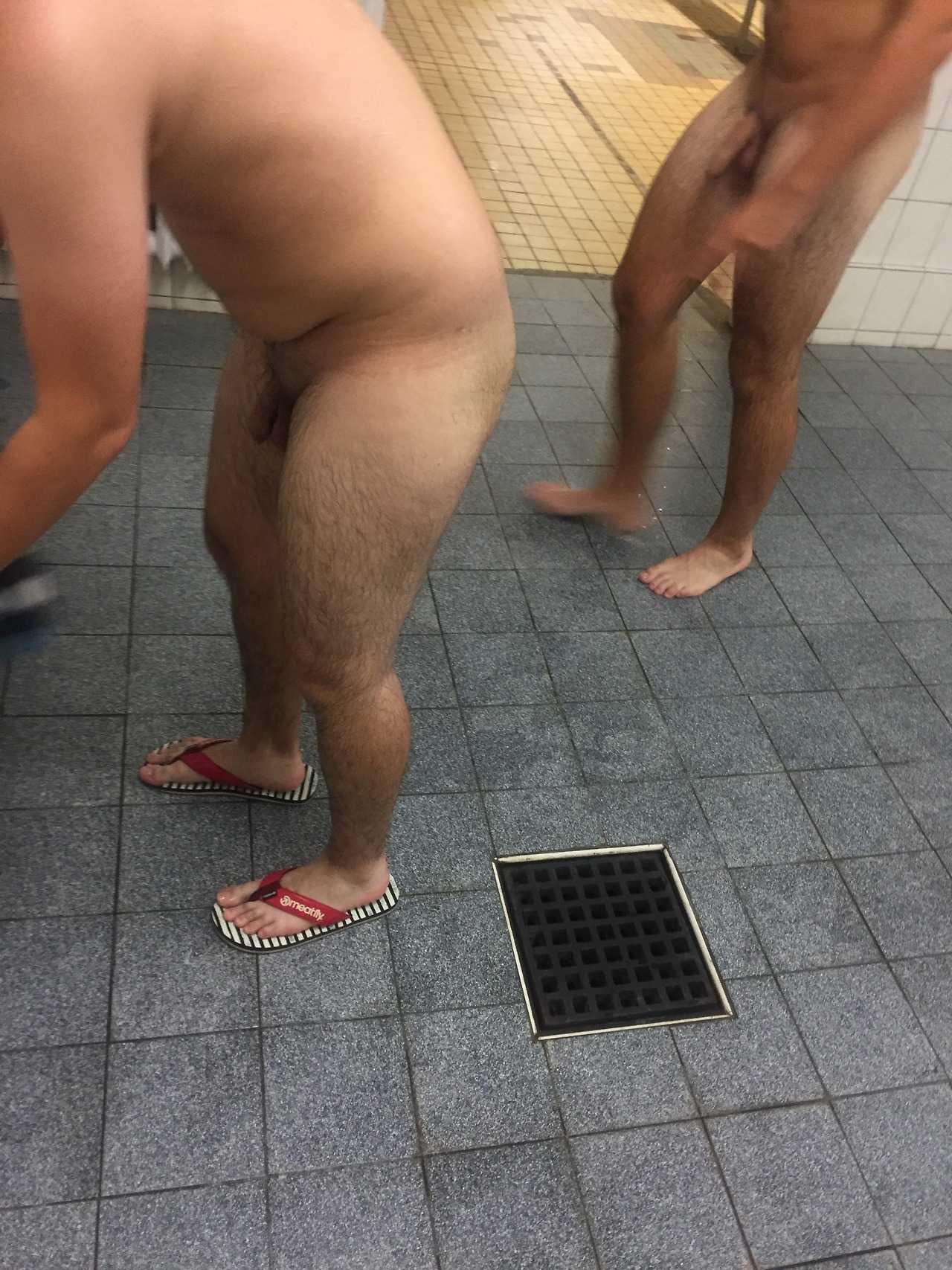 naked guys in the locker room