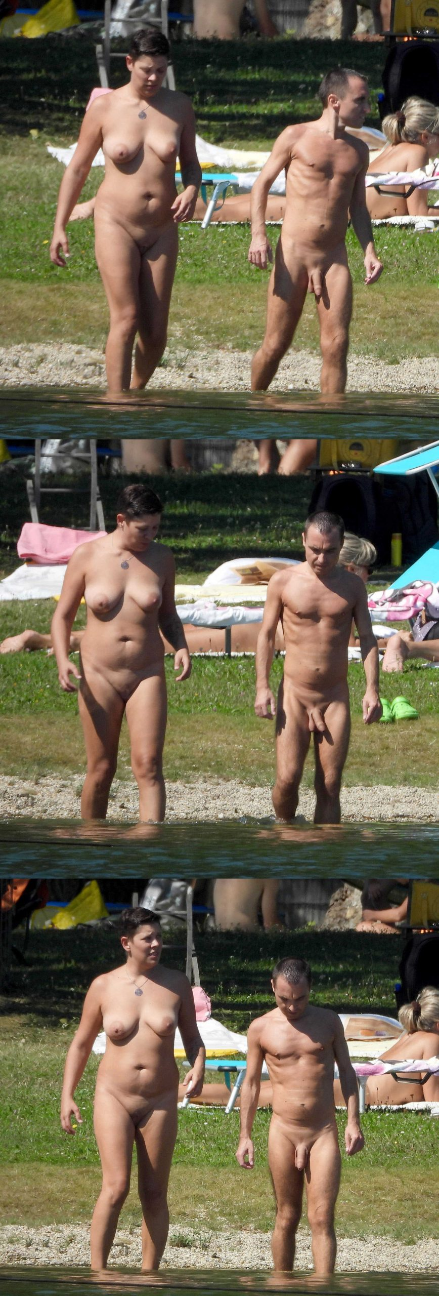 straight nudist man with big uncut dick