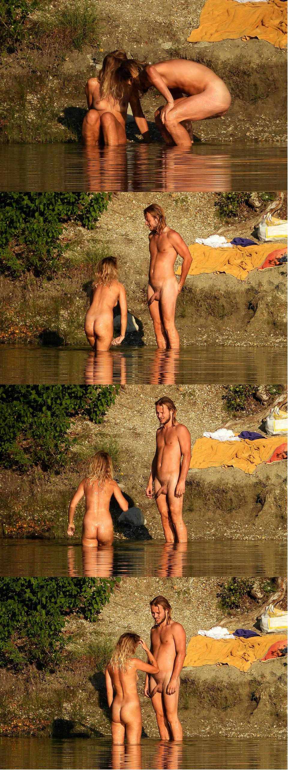 straight uncut nudist guy with long hair