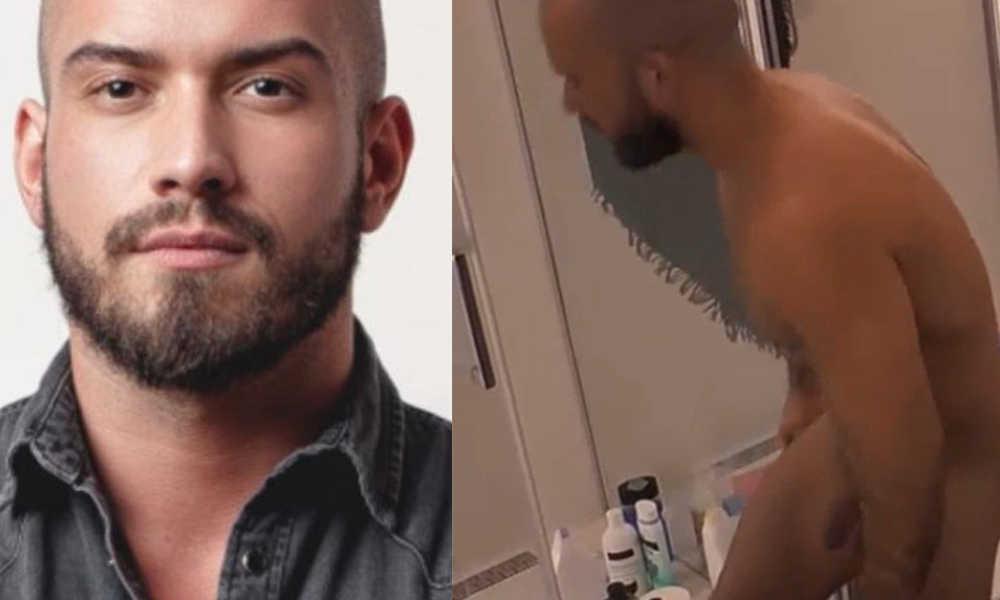 Maciej naked in polish big brother bathroom