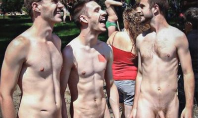 guys naked in public at wnbr