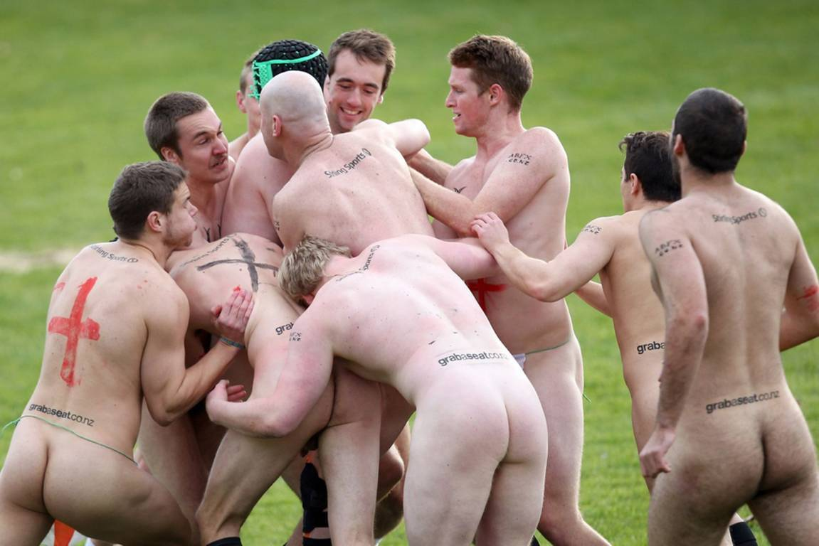 Naked rugby video
