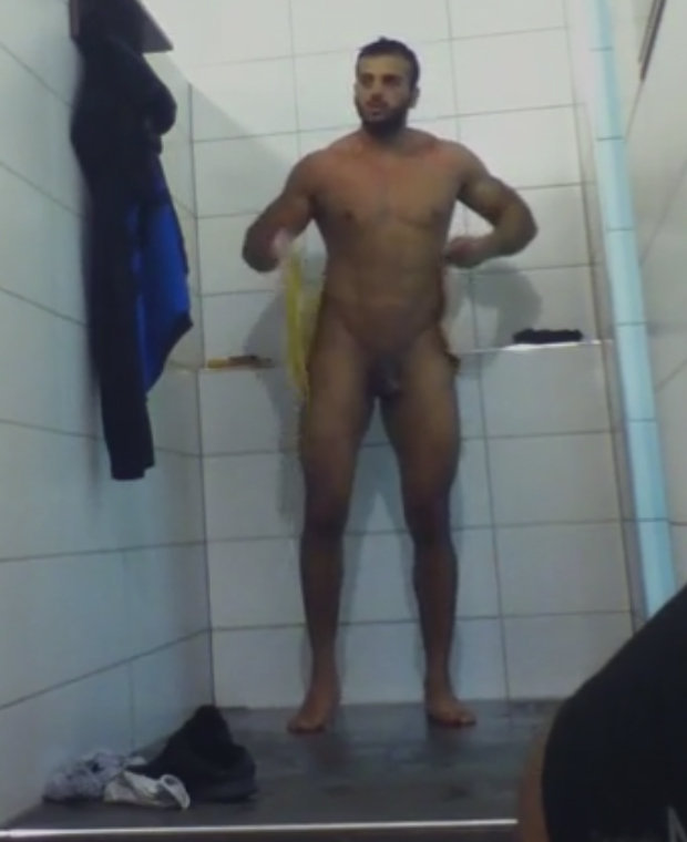 sexy-black-male-in-the-shower