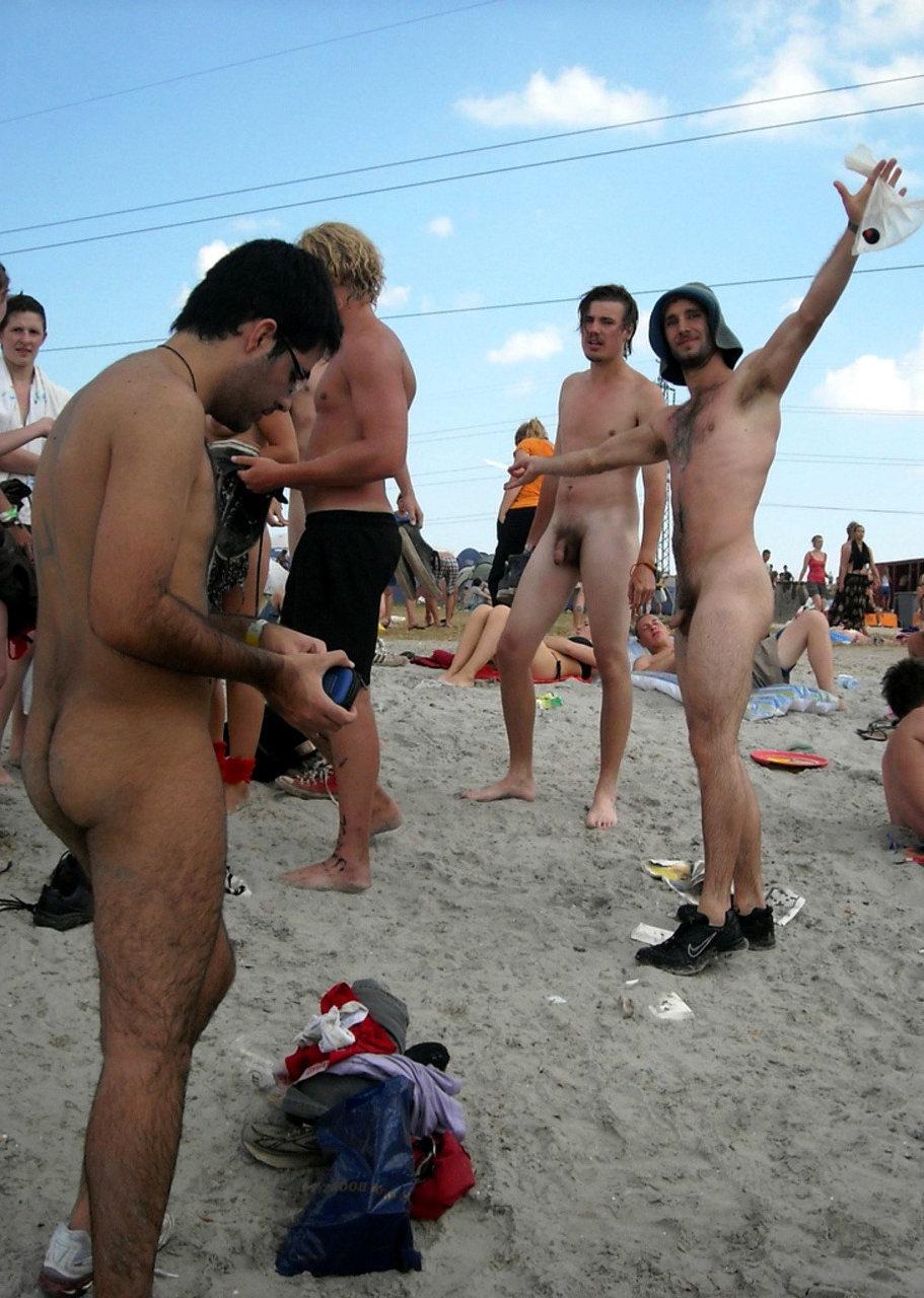 nude men on the beach