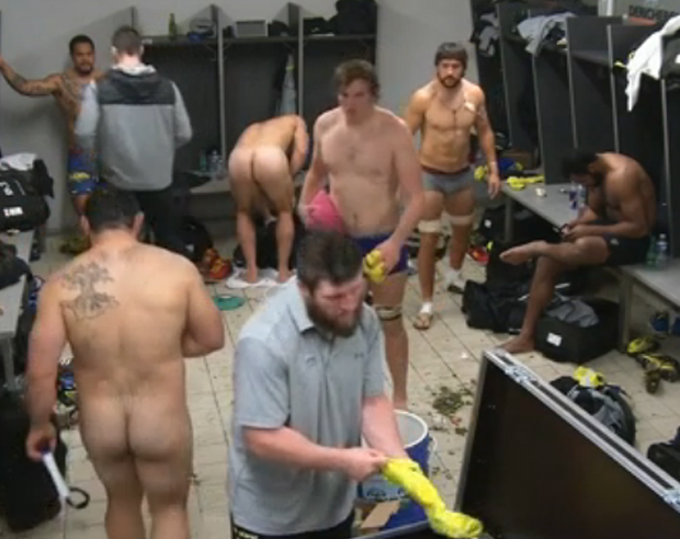 fucking in football equipment room