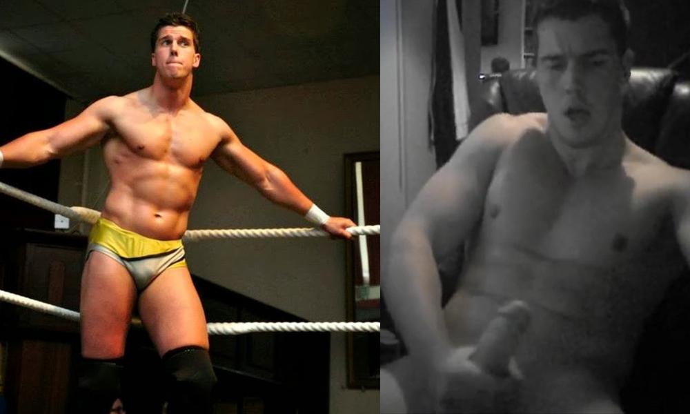Naked pro wrestler
