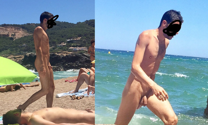 College guy at nude beach — img 2