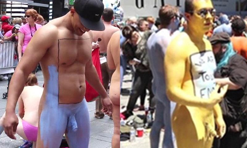 Naked guy in public