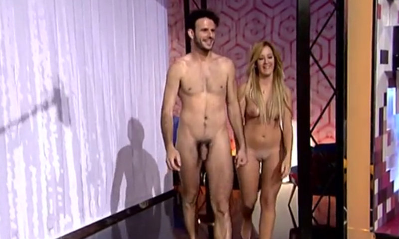appeared naked on television