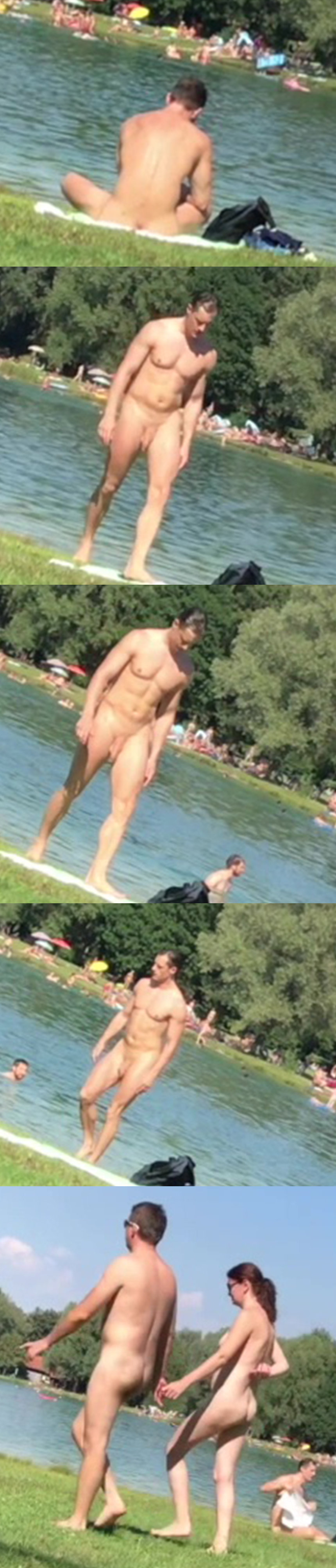 caught nude on the lake