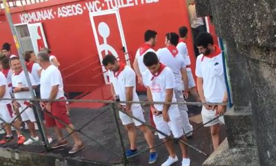 guys caught peeing in public during bayonne feria