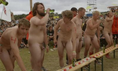 naked guys in public during denmark festival