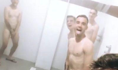 italian footballers naked in shower
