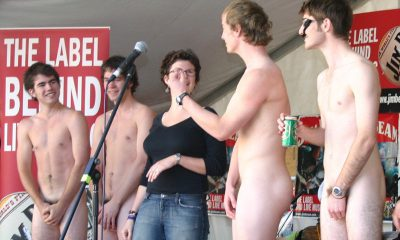 college guys naked in public on stage