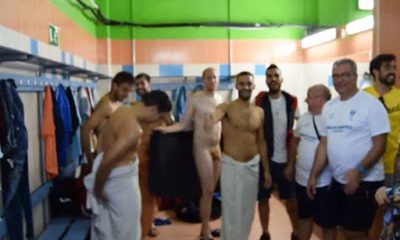 spanish footballer caught naked accidentaly in changing room