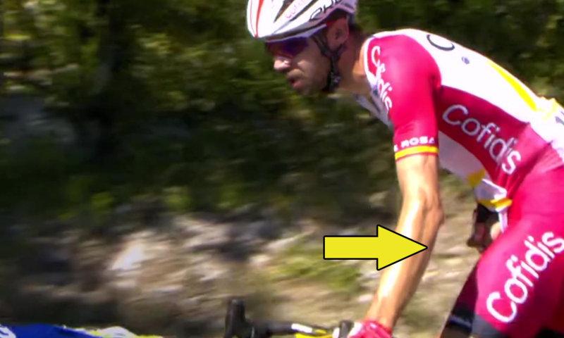 spanish cyclist jesus herrada caught peeing during tour de france