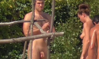 straight nudist guy with hairy chest