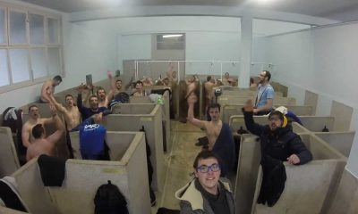 french rugby players naked in showers
