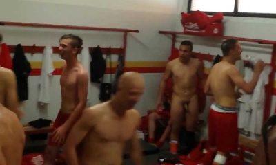 player caught naked in locker room
