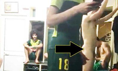 brazilian footballer naked in locker room by his mates