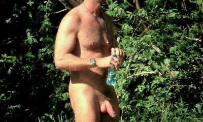 hung nudist man caught naked